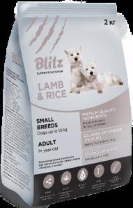 Blitz adult small breeds lamb & rice